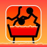 推下热水浴