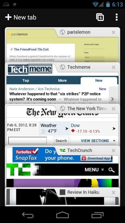 Chrome浏览器截图