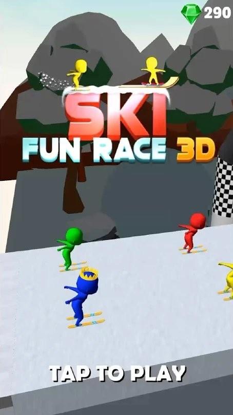 滑雪趣味赛3D截图