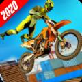 棘手的自行车特技竞赛2020游戏